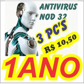 Antivírus Eset Nod32 10 3 Computadores 1ano Frete Grátis