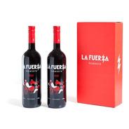 Caja De 2 Botellas La Fuerza Rojo