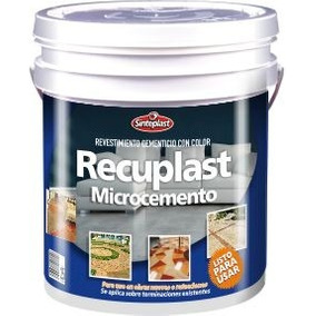 Recuplast Microcemento Sinteplast Kit Completo Para 25m2 !!!