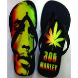 Chinelo E Sandalias Havaianas Personalizados - Bob Marley