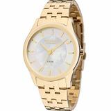 Relógio Technos Feminino Dourado St.moritz Ref: 2035luc/4k