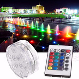 2 Luz Led Multicolor Sumergible Agua Pecera Arreglos Alberca