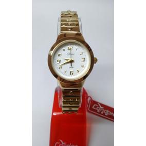 Relógio Feminin Dourado Dumont Kf85510/4b