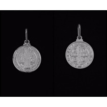 Medalha Em Prata Pura 925 - Imagem De São Bento