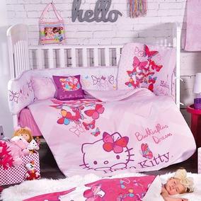 Coordinado De Cuna Chico Hello Kitty, Envio Gratis!