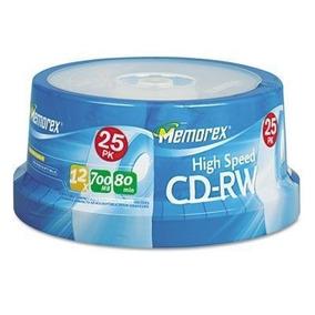 Cd Regrabable 12x 700mb Data / Verbatim Y Memorex 25 - Cd-rw