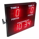Placar Eletrônico Esportivo Futebol Salão E Cronometro Jogo