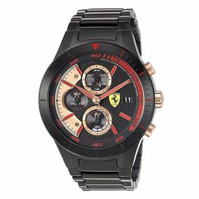 Relógio Masculino Scuderia Ferrari Red Rev Evo Black 830305