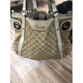 Bolsa Gucci Original Signature Xl Piel Hueso Hermosa Amplia