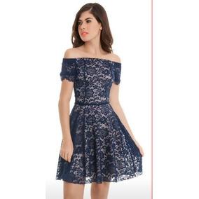 Vestido Sarah Bustani Azul Marino Original + Envío Gratis