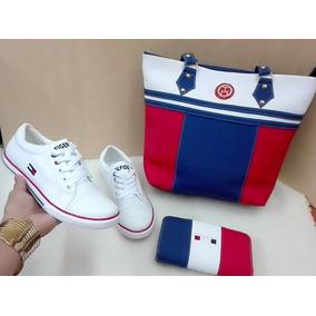 Hermoso Combo Trio Zapato Dama + Bolso + Billetera