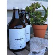 Kit Botellon De Vidrio 1.9l Limpiador Liquido + Lavandina