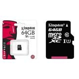 Memoria Micro Sd 64 Gb Kingston Original/ Lector Sd/ Clase10