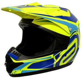 Capacete Asw Factory Motocross Trilha Enduro