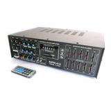 Amplificador De 200w+200w Batblack, Stereo, Bluetooth, Nuevo