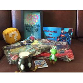 4 Camiseta, Mario, Yoshi, Livro, Cofreup, Placa, Pelúcia