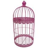 Gaiola Grande Fancy Laces Pink Em Ferro - S/juros S/frete