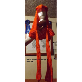 Gorro Capucha Tipo Assasins Creed Tejido Crochet Bufanda