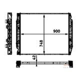 Radiador Stralis Hd 570s42t Ta 6x2 420cv 420cv C/s/ar 07 A09