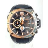 Oferta Reloj Technosport Cronografo Correa De Caucho Negra