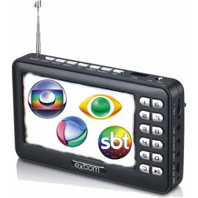 Mini Tv Digital Portátil 4.3 Exbom Mtv43a Fm-pendrive-cartão