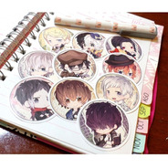 Set De 10 Stickers Circulares De Anime - Bungo Stray Dogs