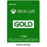 Tarjeta Xbox Live Gold 1 Mes