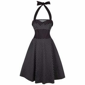 Vestido Puntos Halter Vintage 2xl