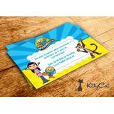 Convite Simples Infantil Peixonautas
