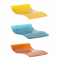 Assento Em Acrilico Banqueta Londres Amarelo/azul/laranja