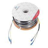 200 Metros Fibra Optica Cable Prefabricado Monomodo Sc 9/125