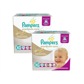 Kit Com 2 Fraldas Pampers Premium Care Xg Com 96 Unidades