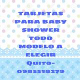 Tarjetas De Invitación Baby Shower Y Bautizo En Quito