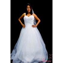 Vestido Noiva Princesa Alça Cauda Barato Novo Pronta Entrega