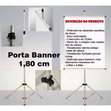 20 Porta Banner 1,80m Tripé Suporte P/ Comunicação Visual