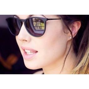 Óculos Sol Feminino Masculino Preto Fosco Redondo Sem Veludo