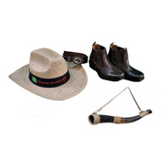 Bota Country Infantil  + Cinto Cowboy + Chapéu + Berrante