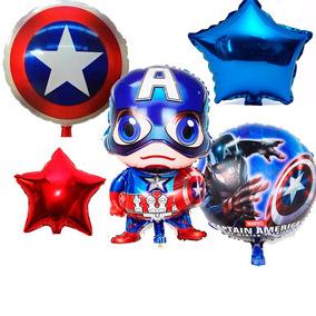 Paquete De 27 Globos Capitan America Decoracion Fiesta
