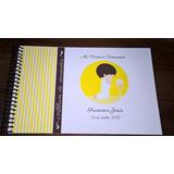 Álbum Libro De Firmas, Fotos Y Recuerdos Comunión Bautismo