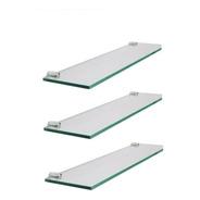 Tres Estantes Repisa De Vidrio 5mm De 50x10 Con Soportes