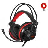 Auricular Gamer Cybertel Xtreme - Cyb Hg502 - Negro/rojo