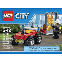 Brinquedo Lego City Fire Veiculo Off Road Combate Fogo 60105