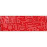 Placa De Revestimientos De Vidrio Abc Rojo 20 X 60 Cm.