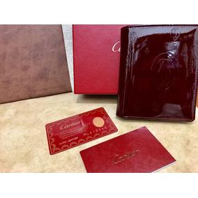 Sofisticada Cartera Cartier Nueva Nunca Usada Charol Vino