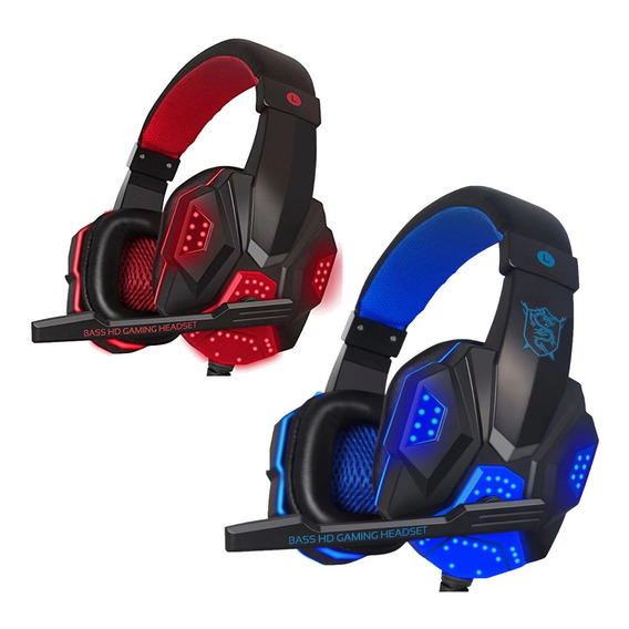 Auriculares Gamer Ps4 Pc Play  Con Luz Y Mic Headset Exc Cal