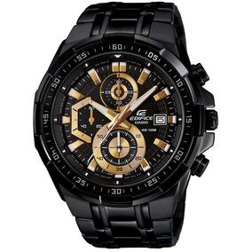 Relógio Casio Masculino Edifice Ef539 Black Gold Original