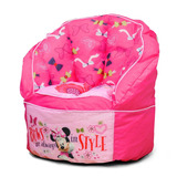 Puff Silla Rellena Tapizado Niños Decoración Minnie Mouse