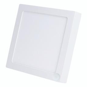 Paflon Led Sobrepor 18w C/ Sensor De Presença - Quadrado