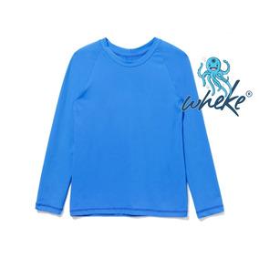 Camisetas Infantil Proteção Solar Uv 50+ Wheke Praia Piscina