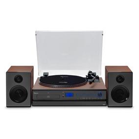 Vitrola Raveo Aria Cd Player Com Conexão Usb Rádio Fm